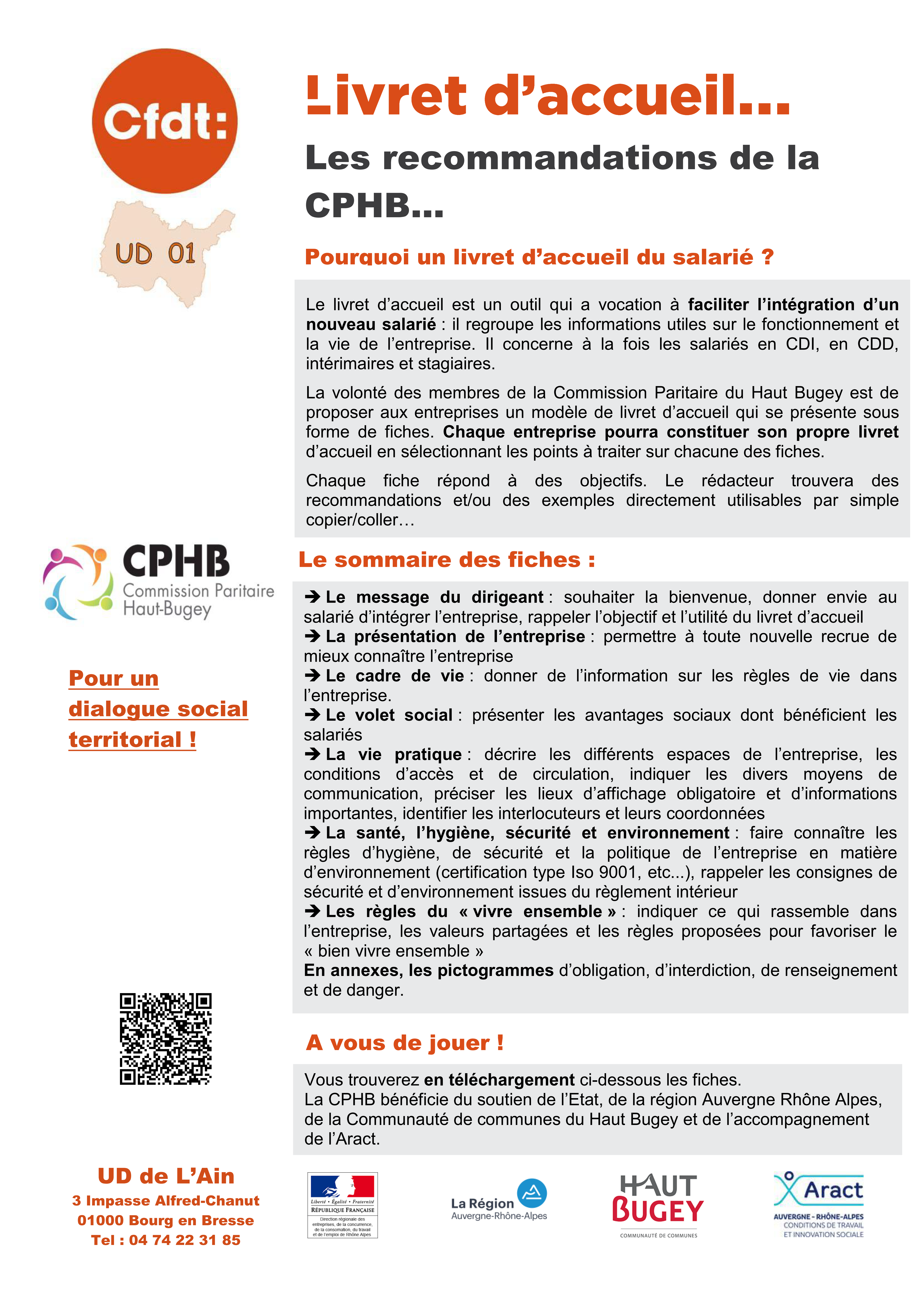 CFDT   Les Recommandations de la CPHB ...